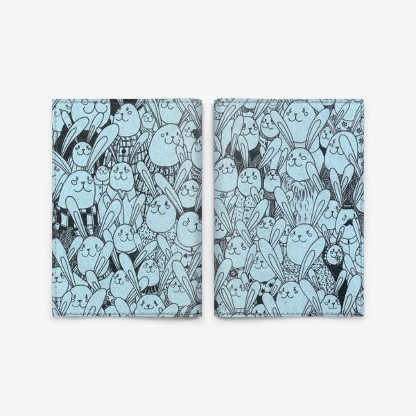 Обложка для паспорта «Зайцы, много зайцев!»