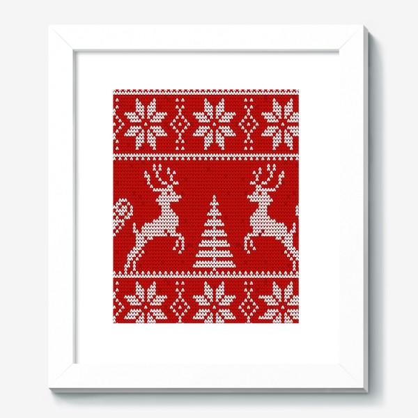 Картина «Свитер с оленями (красный)»