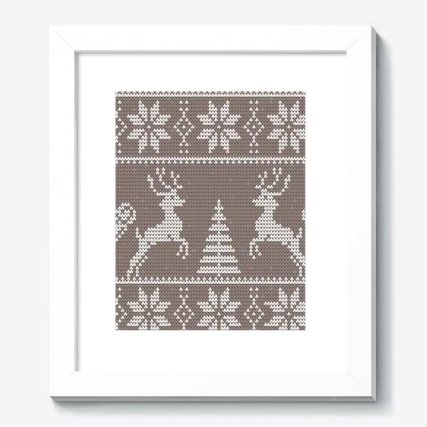 Картина «Свитер с оленями (какао)»