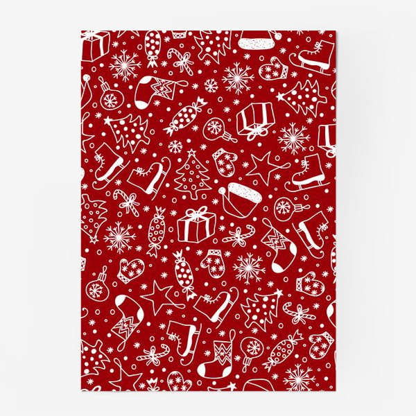 Постер «Red Christmas Pattern»