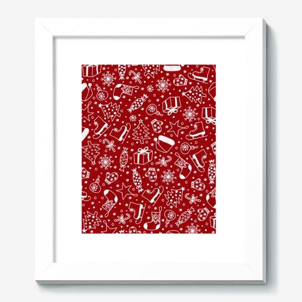 Картина «Red Christmas Pattern»