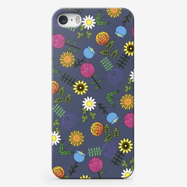 Чехол iPhone «цветы графика»
