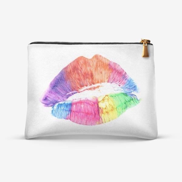 Косметичка «Радужный поцелуй (губы)»