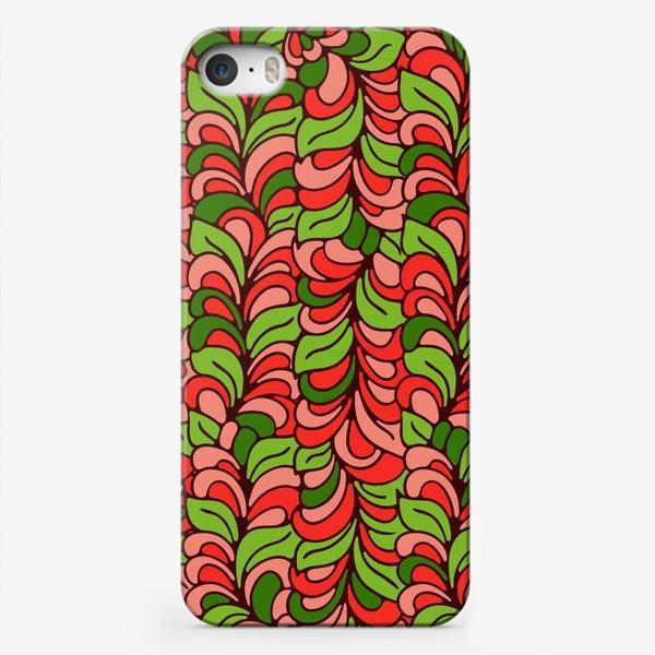 Чехол iPhone «Бесшовный абстрактный растительный паттерн»