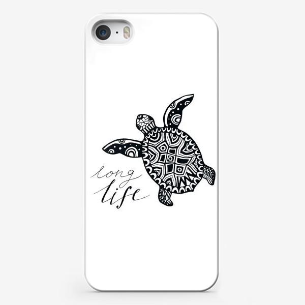 Чехол iPhone «Черепаха. Long life»