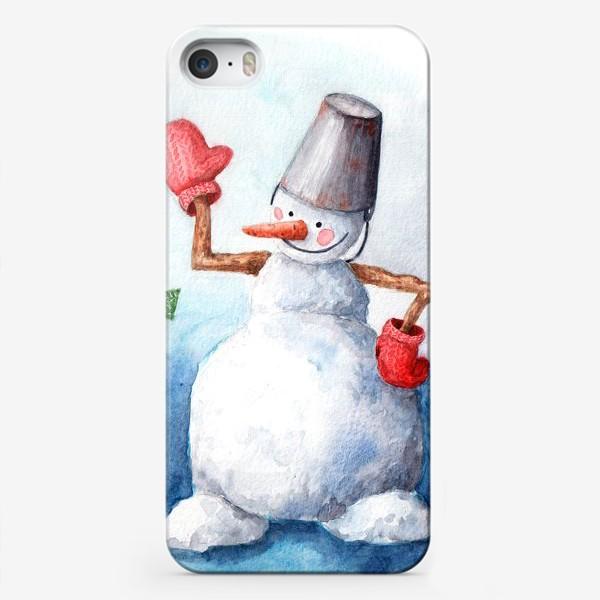 Чехол iPhone «Снеговичковы»