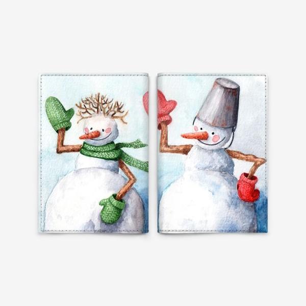 Обложка для паспорта «Снеговичковы»