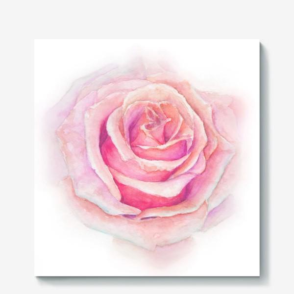 Холст «Роза нежная, как облако»