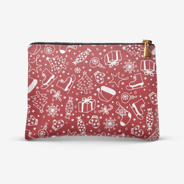 Косметичка «Red Christmas Pattern»