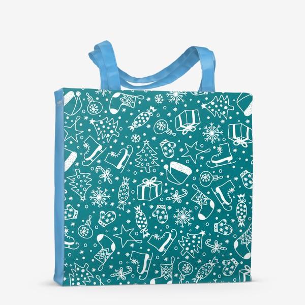 Сумка-шоппер «Blue Christmas Pattern»