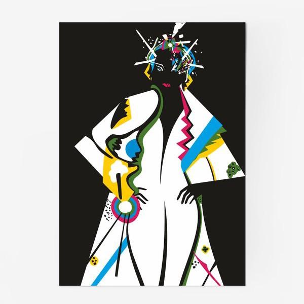 Постер «Абстрактная девушка»