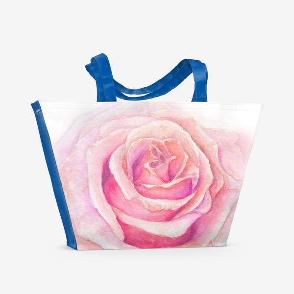 Пляжная сумка «Роза нежная, как облако»