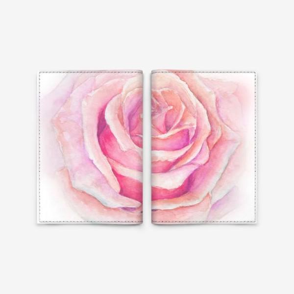 Обложка для паспорта «Роза нежная, как облако»