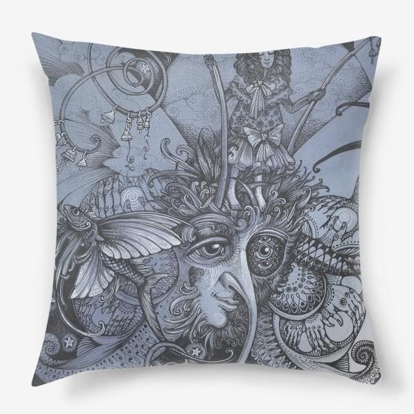 Подушка «Голубая бабочка»