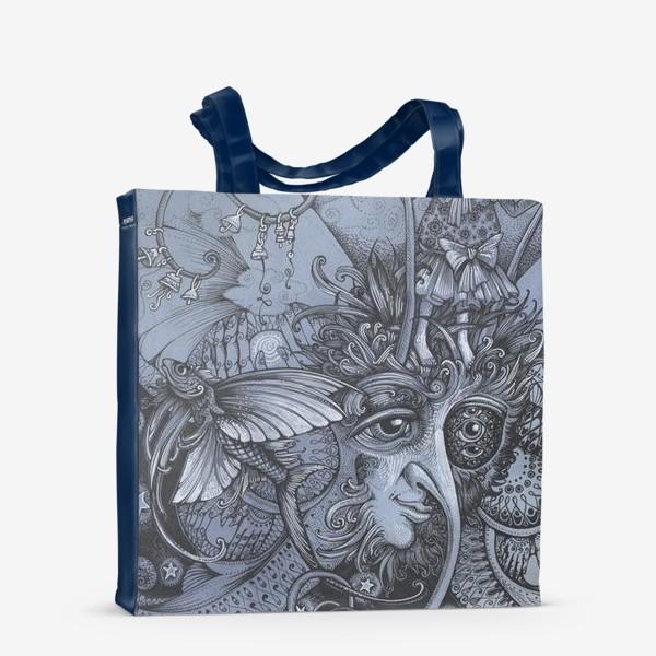 Сумка-шоппер «Голубая бабочка»