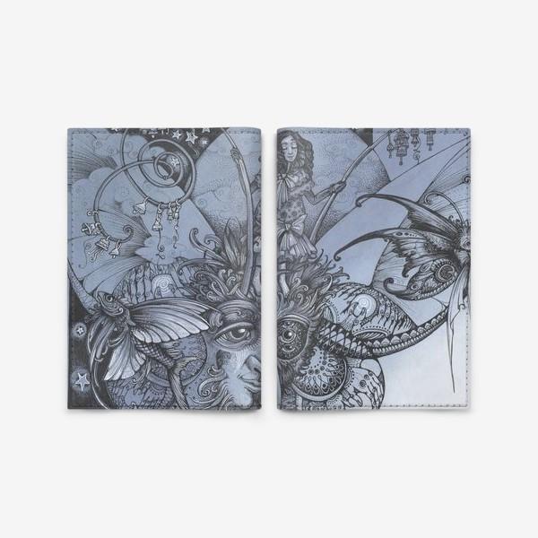 Обложка для паспорта «Голубая бабочка»
