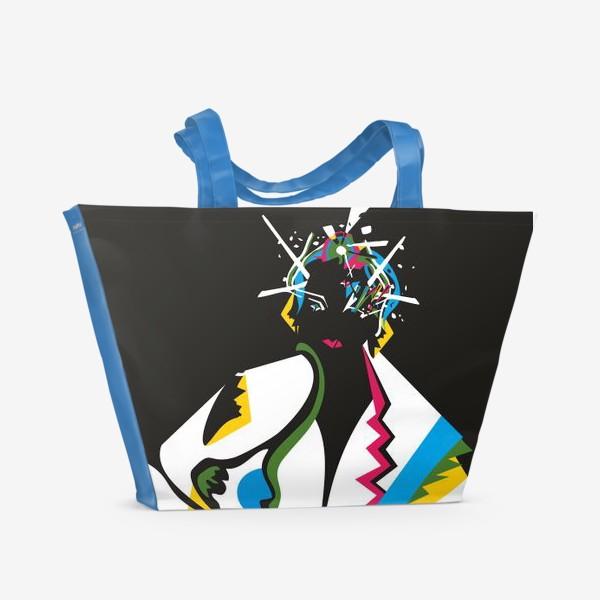 Пляжная сумка «Абстрактная девушка»