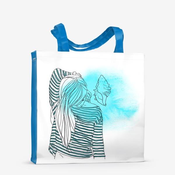 Сумка-шоппер «Девушка и море 2»