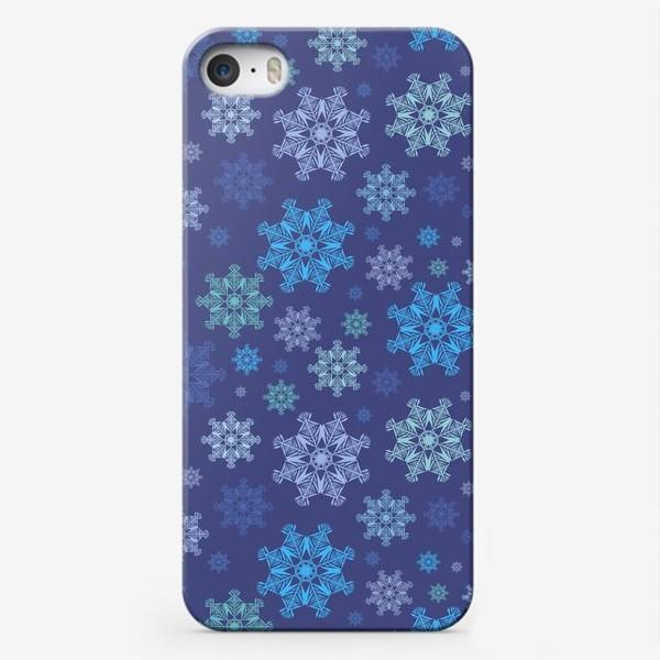 Чехол iPhone «Летящие снежинки ( Flying snowflakes )»