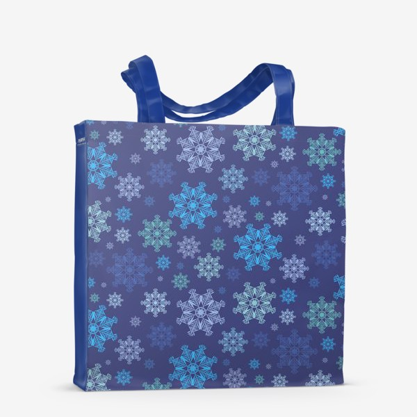 Сумка-шоппер «Летящие снежинки ( Flying snowflakes )»