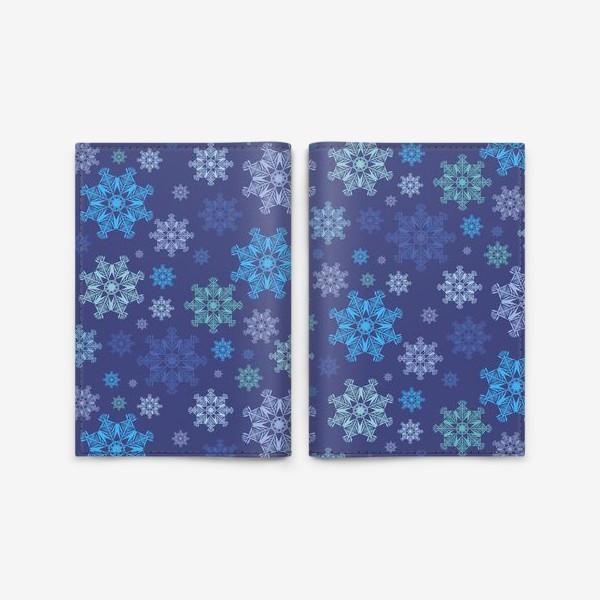 Обложка для паспорта «Летящие снежинки ( Flying snowflakes )»