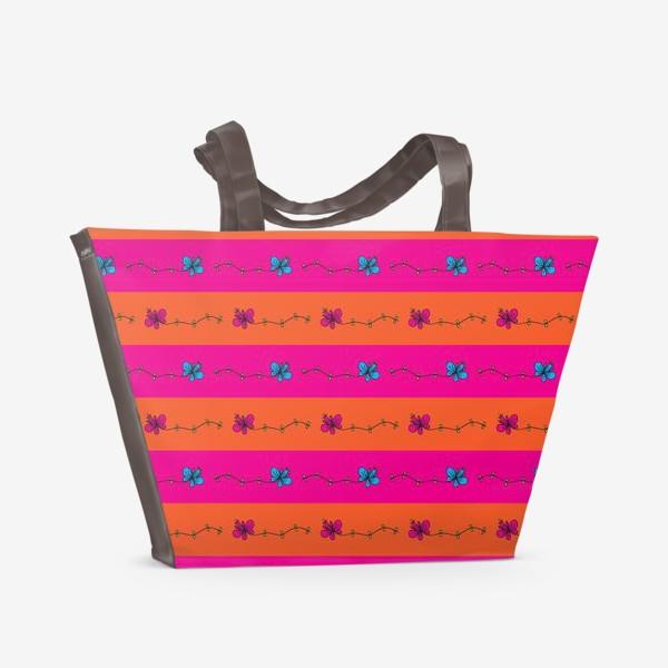 Пляжная сумка «Узор горизонтальный»