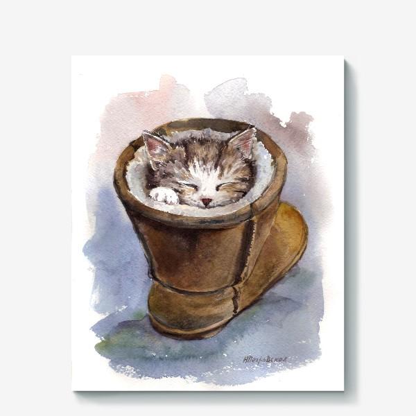 Холст «Кот в сапоге»