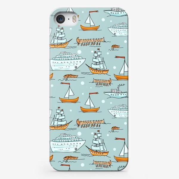 Чехол iPhone «Паттерн кораблики»