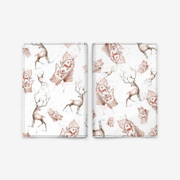 Обложка для паспорта «Christmas pattern»