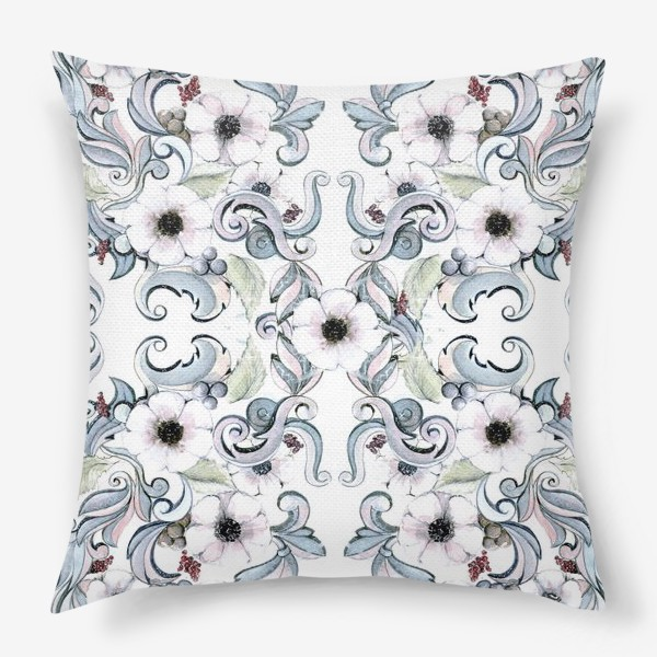Подушка «Зимние цветы»