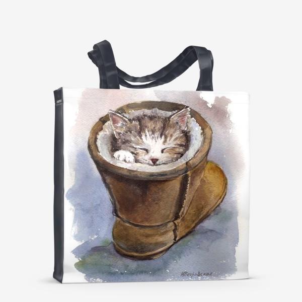 Сумка-шоппер «Кот в сапоге»