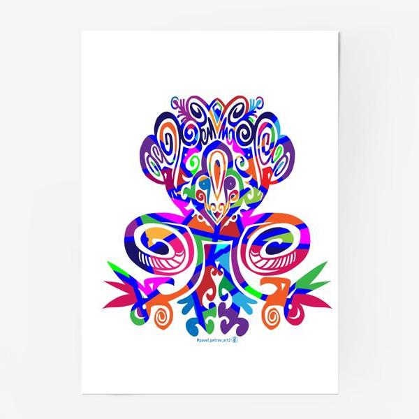 Постер «Цветной вензель»