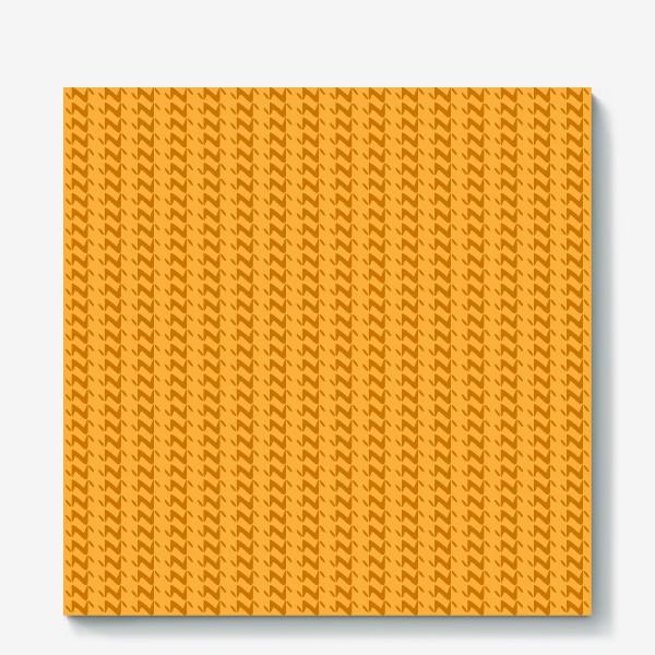 Холст «Жёлтый вязанный паттерн»