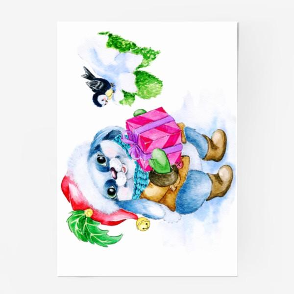 Постер «Заяц. Новый год. Подарок.»