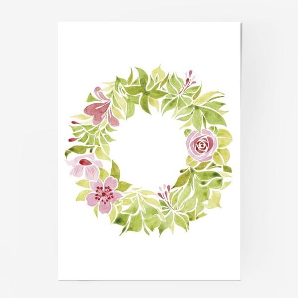 Постер «Венок из цветов»