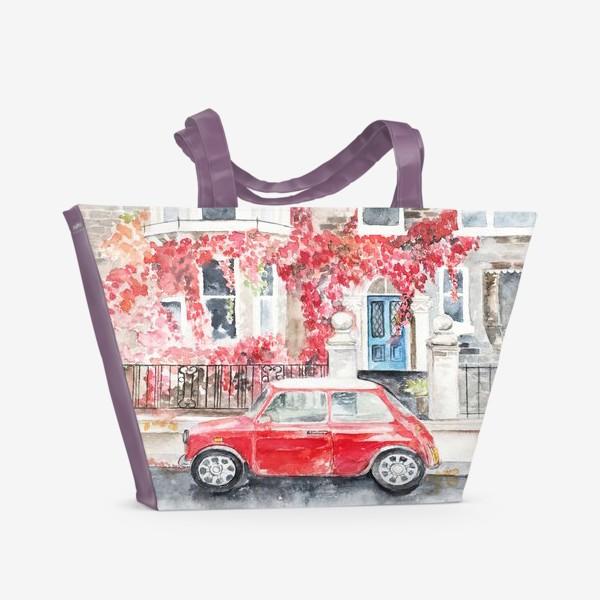 Пляжная сумка «Мини-купер»