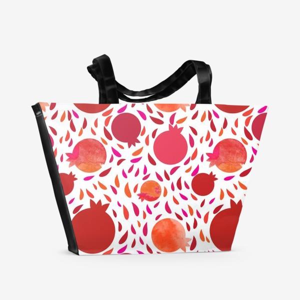 Пляжная сумка «Гранатовый паттерн»