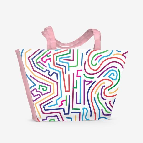 Пляжная сумка «Цветной узор»