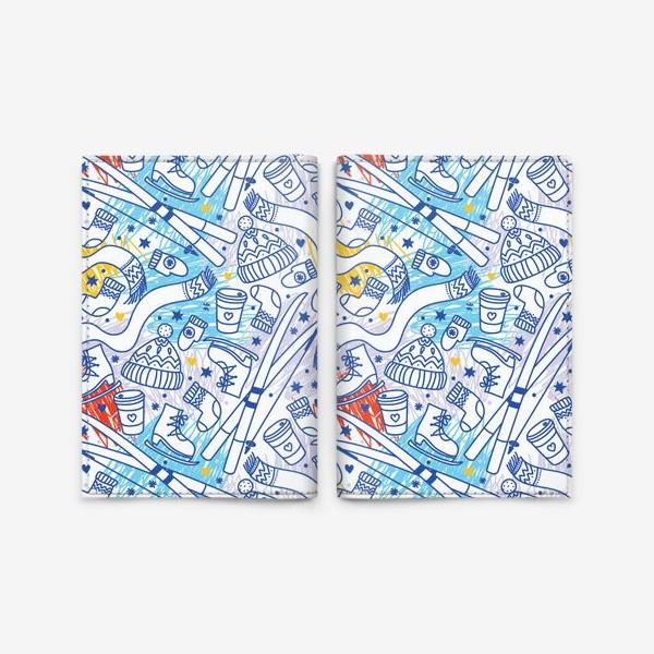 Обложка для паспорта «Зимний паттерн»