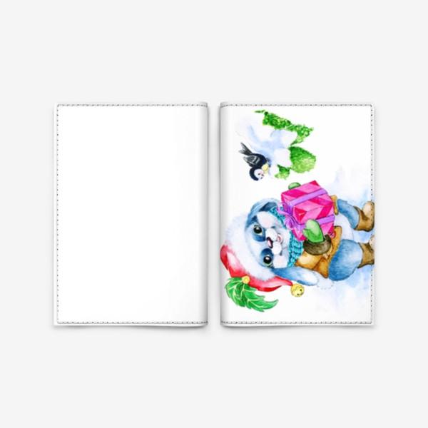 Обложка для паспорта «Заяц. Новый год. Подарок.»