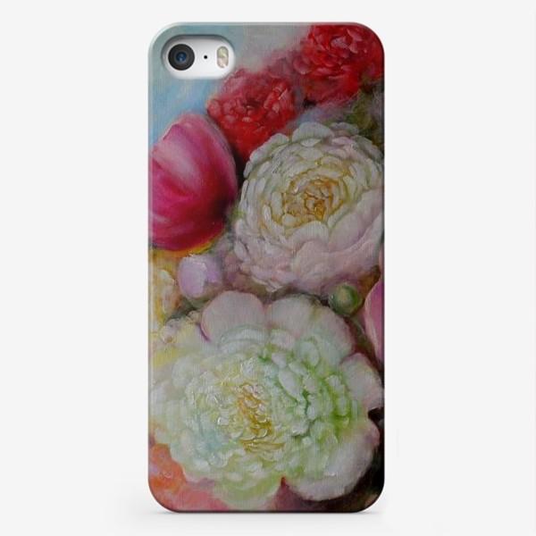 Чехол iPhone «Волшебные пионы счастья»