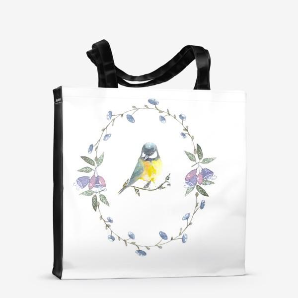 Сумка-шоппер «Птичка »