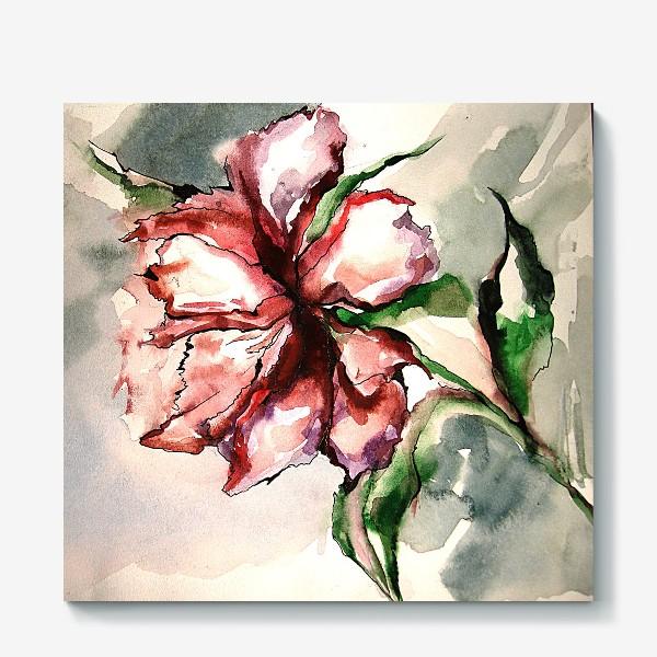 Холст «Красный цветок»