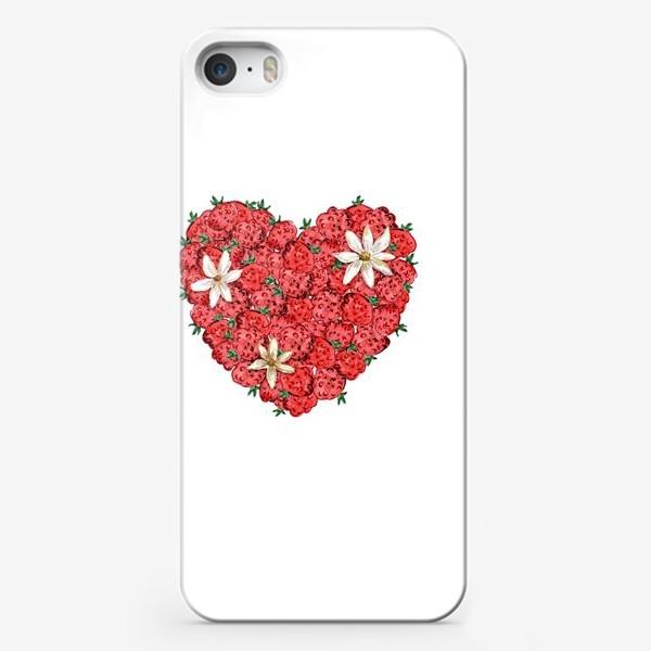 Чехол iPhone «Сердце из малины и ромашек»