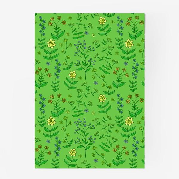 Постер «текстура цветы»