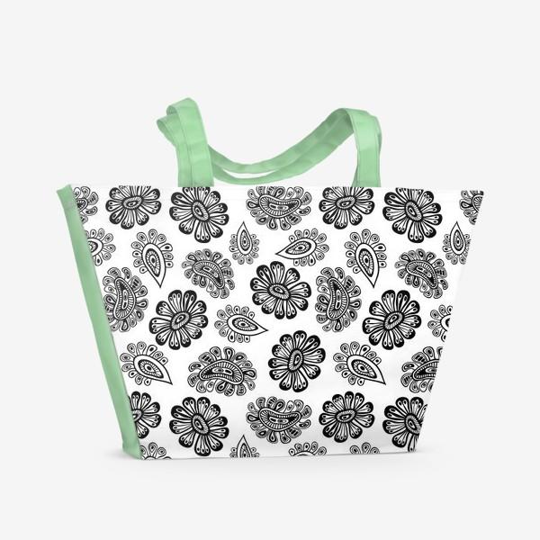 Пляжная сумка «African - Black And White»