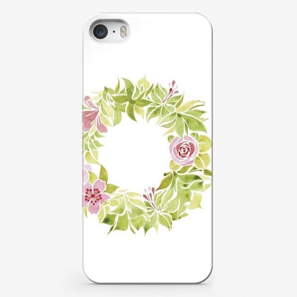 Чехол iPhone «Венок из цветов»