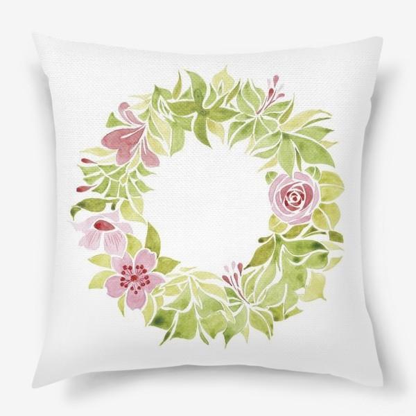 Подушка «Венок из цветов»
