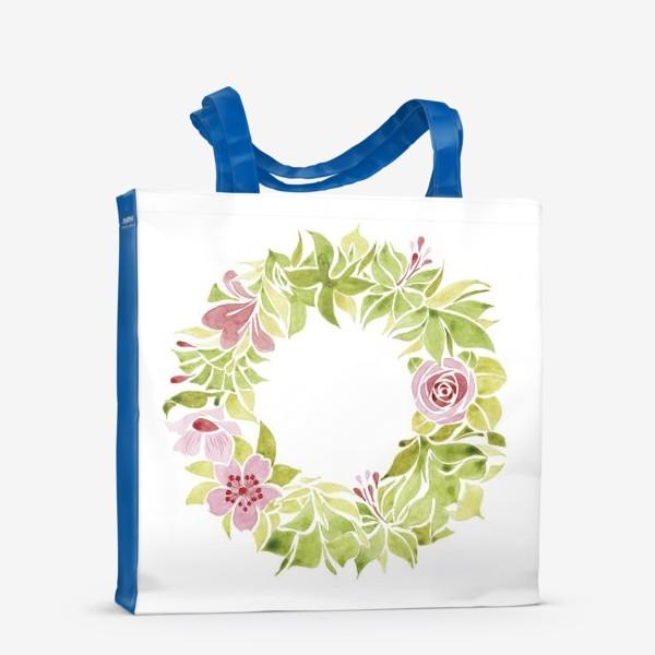 Сумка-шоппер «Венок из цветов»