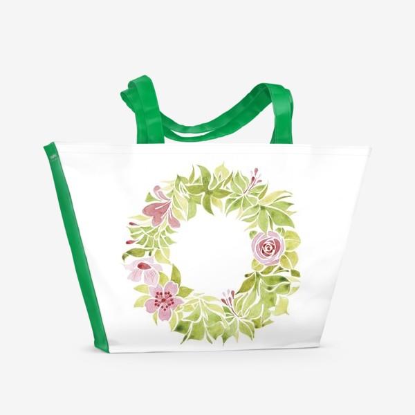 Пляжная сумка «Венок из цветов»